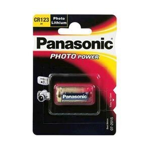 CR123A 3V Panasonic Foto lithium batteri