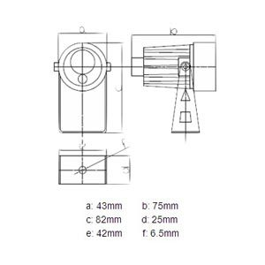 IR-lampe 10m 90° 12v
