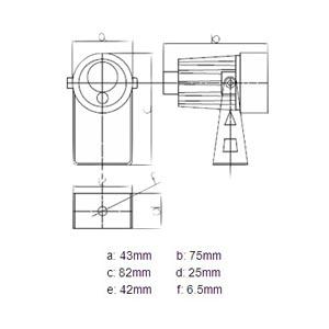 IR-lampe 10m 90° 12v billede 2