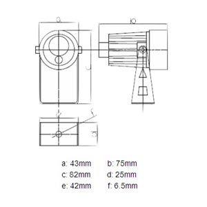 IR-lampe 50m 15° 12v