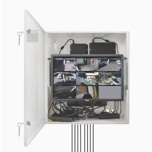 Montageskab til NVR DVR og monitor Large
