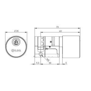 Privus Europrofil Enkeltcylinder (30mm) SB med positionerbar kamstykke